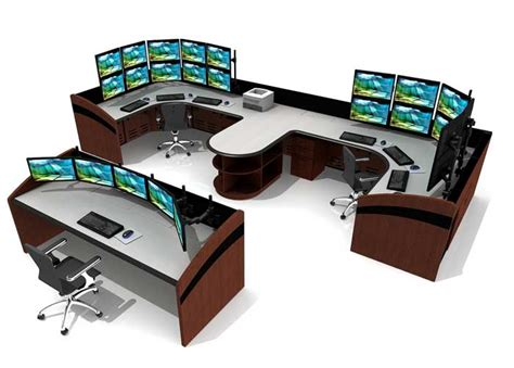 furniture console console furniture for noc rooms and command centers