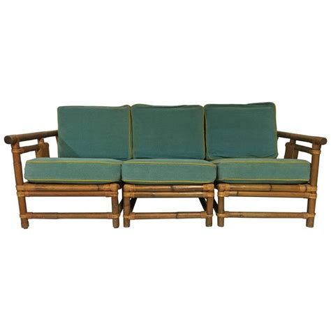 Calif Asia Rattan Furniture 1940s calif asia rattan and wicker three sofa and