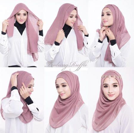 tutorial hijab pesta zahratul jannah 46 cara memakai kerudung pesta simpel nan anggun
