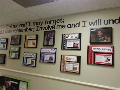 Foyer Program Wall Display For Childcare Childcare Displays And Decor