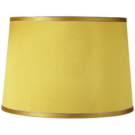 yellow drum l shade sydnee satin yellow drum l shade 14x16x11 spider