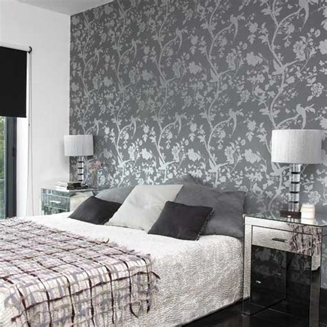 bedroom with patterned wallpaper bedroom designs glass - Wallpaper Bedroom Ideas