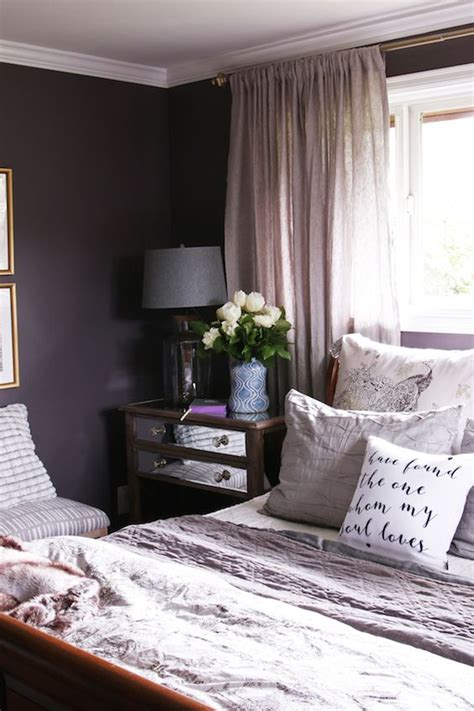 plum colors for bedroom walls master bedroom sneak peek black frosted plum walls