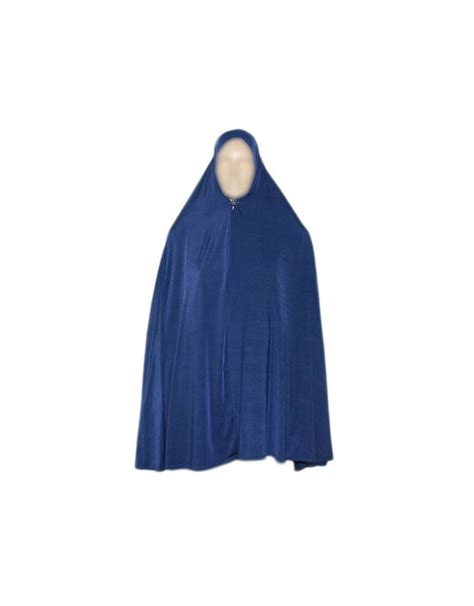 big khimar in blue stretchy style