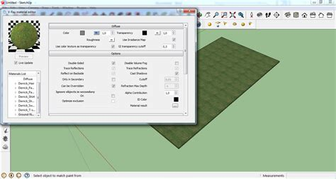 vray sketchup quick tutorial architecture rendering quick realistic grass in sketchup