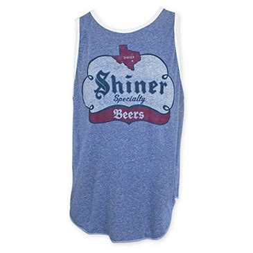 speciality merchandise corp shiner specialty blue tank top for only 163 27 23 at