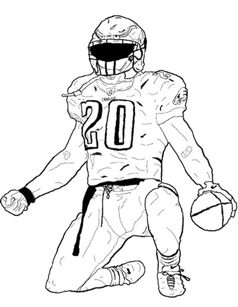 Football Player Bending The Foot Coloring Page Kids Football Player Color Pages