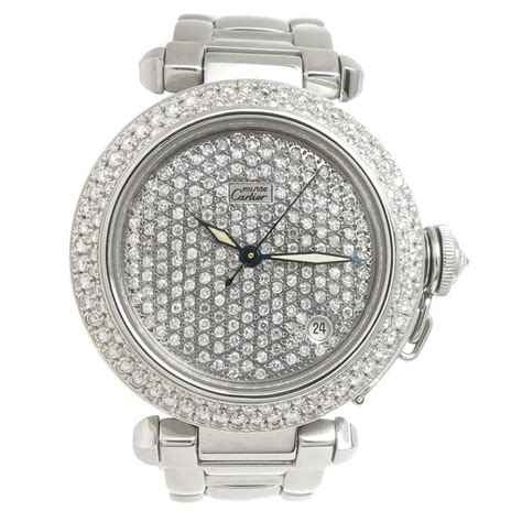 Big Sale Cartier 8071 Set cartier pasha steel and pave automatic wristwatch at 1stdibs