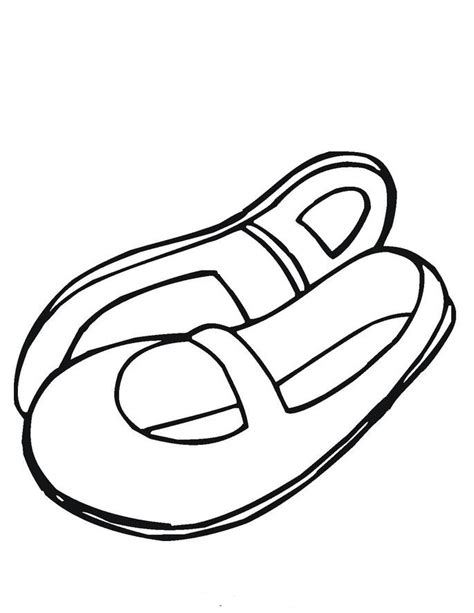 coloring pages of baby shoes ballet shoes cartoon cliparts co