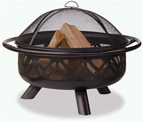 pit bowl lowes rubbed bronze outdoor firebowl with geometric design