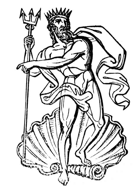 king neptune coloring pages neptune clipart etc