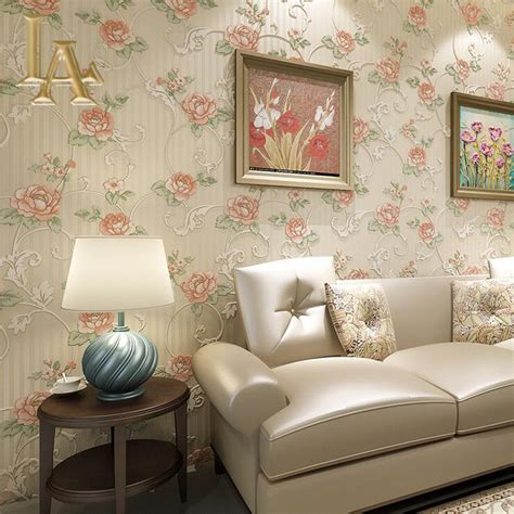 bedroom with retro decor wallpaper and wall poster and vintage luxury bedroom decor background floral wall paper