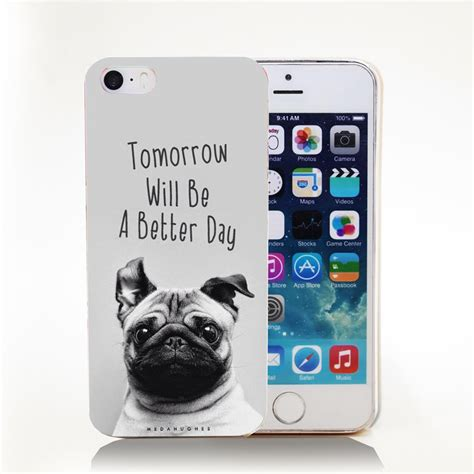 are or pugs better tomorrow will be a better day pug transparent cover for iphone 4 4s 5
