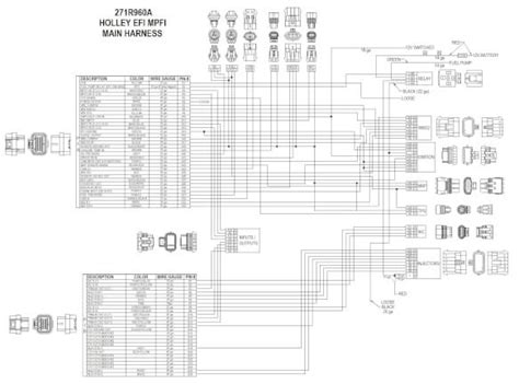 holley dominator efi wiring diagram holley efi 558 508 universal ford v 8 harness kit holley