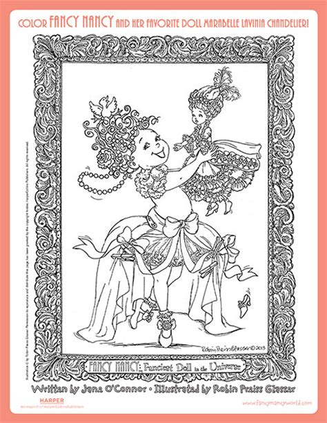 fancy nancy coloring pages free printable fancy nancy printables coloring pages