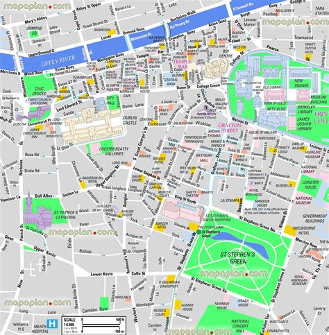 printable map dublin city centre maps update 21051488 tourist map of dublin filedublin