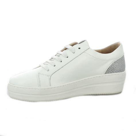 Send Baskets by Baskets Cuir Blanc Chaussures So Send 8120