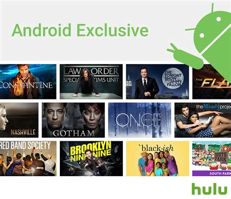 hulu for android hulu gives android users free access to current season of shows
