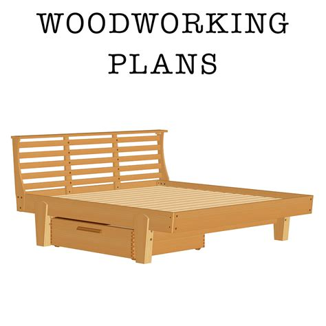 bed plans askwoodman platform bed with drawer verysupercool tools