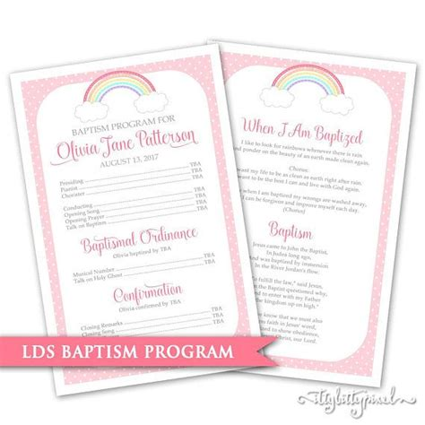 Lds Baptism Card Template by The 25 Best Lds Baptism Program Ideas On