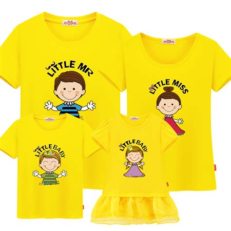 t shirt chion alba match item family matching clothes cotton sleeve t shirts