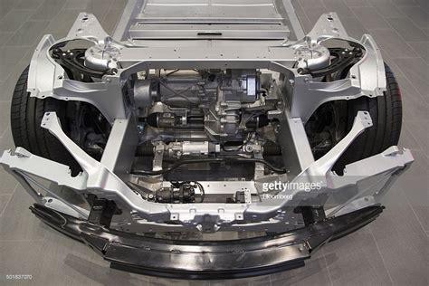 tesla inside engine inside a tesla motors inc showroom as electric automaker