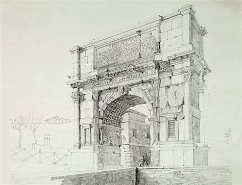 pin by matthieu mielvaque on architectural drawing pinterest roman architectural sketches roman arches drawings