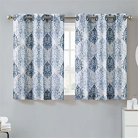 hookless window curtains hookless 174 ikat 38 inch x 45 inch window curtain tier pair