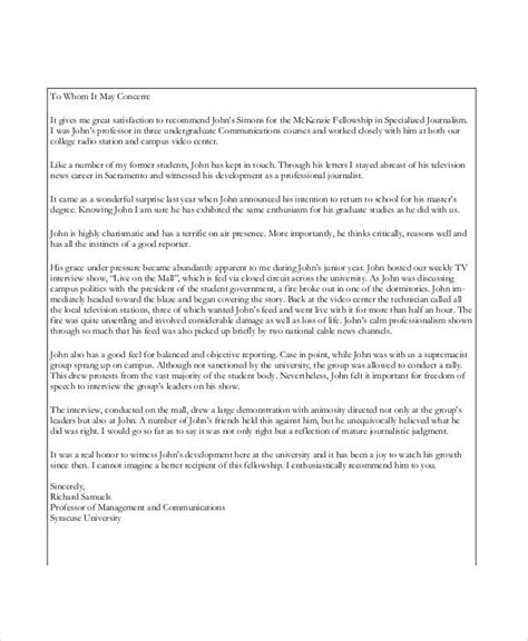 Reference Letter Kingston letter of recommendation for graduate school 9 free 11