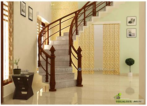 evens construction pvt  staircase area design