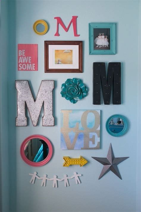 wall decor for teenage girl bedroom mallory s room gallery wall walls painted sw 6484
