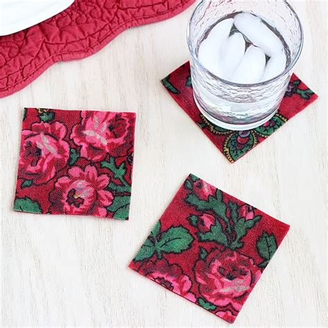 decoupage simple decoupage with vintage fabric diy coasters mod podge rocks