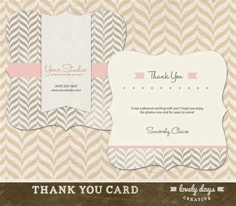 Beautiful Thank You Card Template by Thank You Card Template For Photographers Instant
