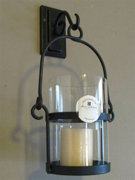 home interiors wrought iron wall sconce candle holder