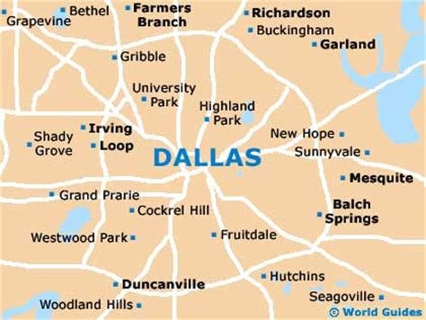 map of dallas texas and surrounding area dallas maps and orientation dallas texas tx usa