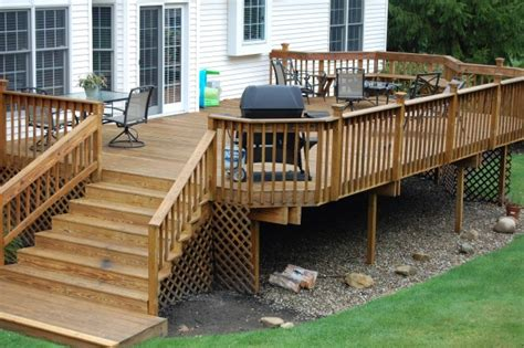 fashionable backyard deck designs ideas for patio space