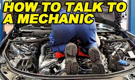 Find To Talk To How To Talk To A Mechanic Etcg1 Ericthecarguy Stay