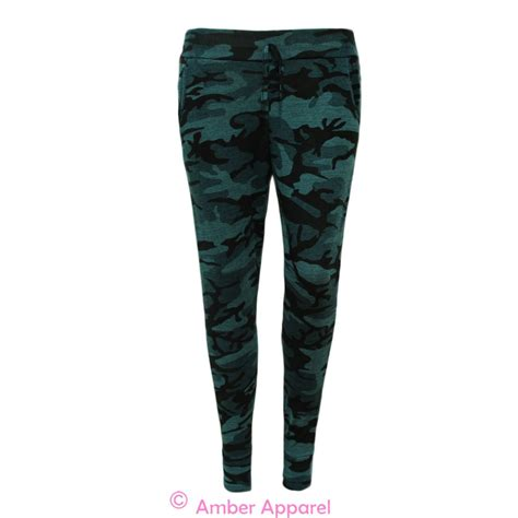 army pattern yoga pants new ladies army camouflage print tracksuit womens lounge