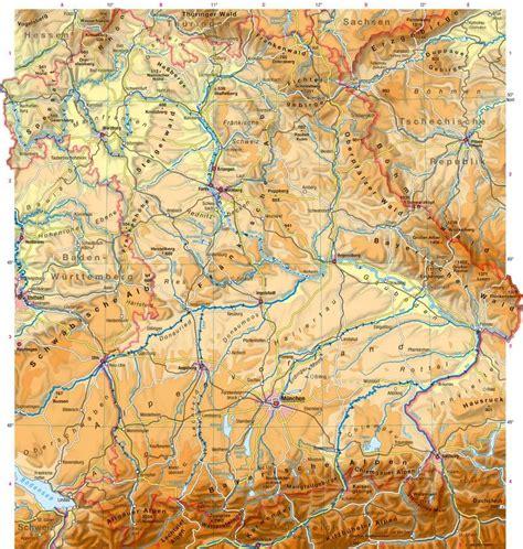 gebirgskarte deutschland diercke weltatlas kartenansicht bayern physische