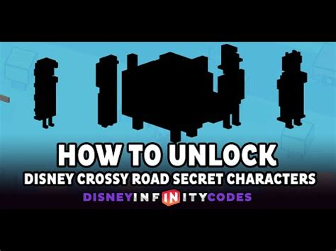 how to get humanoide characters in crossy road how to unlock all disney crossy road secret characters