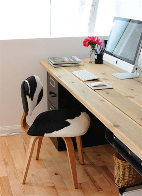Workin It 15 Diy Desks You Can Build Brit Co Diy Desk With File Cabinets
