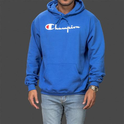 Hoodie Blue royal blue chion classic pullover hoodie wehustle