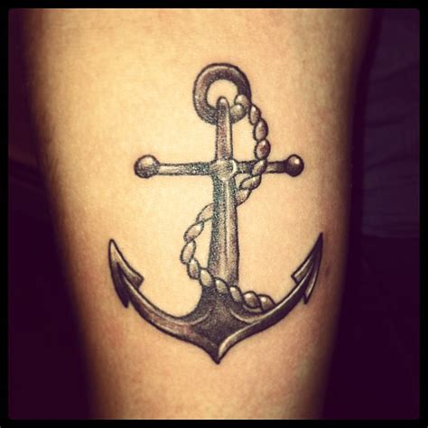 anchor and cross tattoos awesome cross anchor n rope design tattooshunt