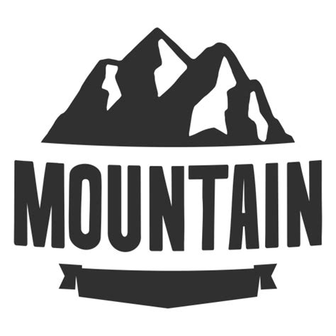 vintage mountain logo transparent png svg vector
