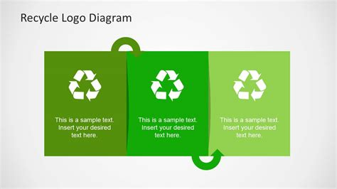 Simple Recycle Diagram Template For Powerpoint Slidemodel Recycling Template