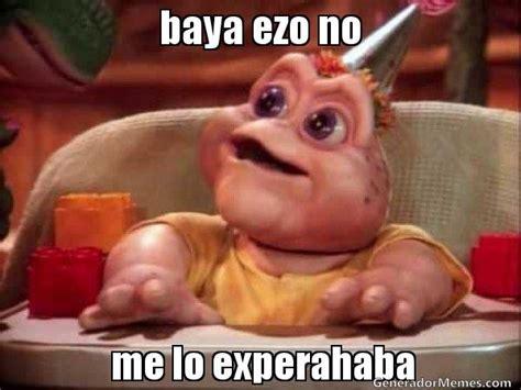 Baby Sinclair Meme - baya ezo no me lo experahaba meme baby sinclair