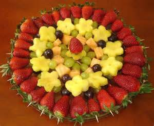 fruits arrangements for a bridal shower fruit tray ideas