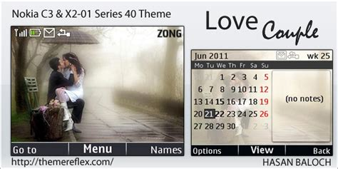 themes love kiss nokia love couple theme for nokia c3 x2 01 themereflex