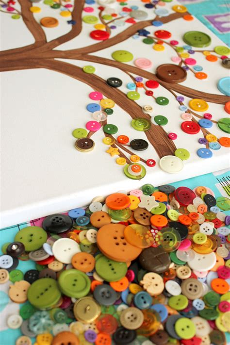 diy crafts for home decor button tree crafts button tree a great craft idea diy craft crafts kidcraft ikea decora