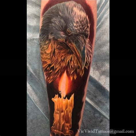 raven amp candle best tattoo design ideas